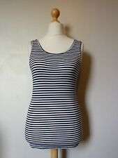 Y.A.S Base Striped Jersey Tank Top Vest Top Size 8 BNWT RRP £17.99 Navy White