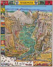 Yosemite National Park 1931 Decorative Pictorial Map Jo Mora Art Poster 20x24