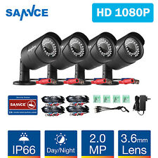 SANNCE 4pcs 2MP CCTV Camera for 1080P CCTV Security Cameras System  IR Cut Night