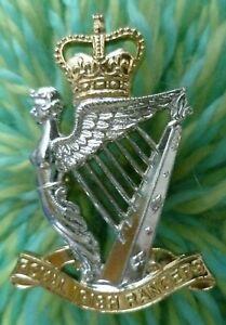 Staybrite Royal Irish Rangers Cap Badge QC 2 Lugs Anodised Aluminium GAUNT