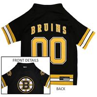Boston Bruins NHL Pets First Licensed Dog Pet Hockey Jersey, Black Sizes XS-XL