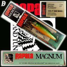 VINTAGE Rapala Magnum conto alla rovescia 7cm GM molto vecchia produzione Finlandia, nuovo in box