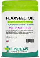 Lindens Flaxseed Oil 1000mg Capsules (90 pack) omega 3 6 9 flax seed UK