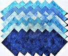 ASSORTED BLUE Batiks from Island Batik - (48) 5