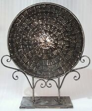 Round circle Metal fancy ornament - fengshui RRP $329 garden feature HOME DECOR