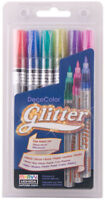 Marvy Uchida DecoColor Glitter Marker Set Fine Point 160-6A Deco Color