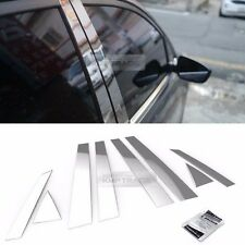 Stainless Steel Chrome Window Pillar Molding 8P For HYUNDAI 2011-2016 Elantra
