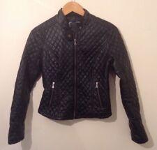 Ladies Bernardo Faux Leather Jacket Small Black Used