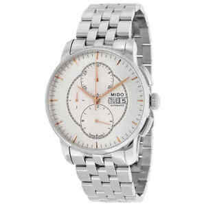 Mido Baroncelli Automatic Chronograph Silver Dial Stainless Steel Men's Watch