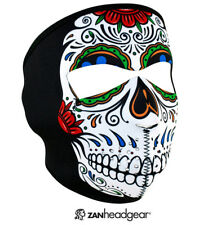 ZANheadgear® Neoprene Face Mask, Muerte Skull, Cold Weather Protection WNFM413