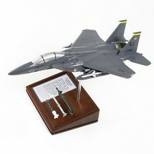USAF Boeing F-15E Strike Eagle + Ordnance Desk Display Model 1/64 MC Airplane