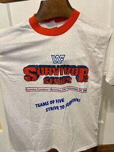 Vintage WWF Survivor Series T-Shirt VERY RARE Hulk Hogan Wrestling Legends 1988
