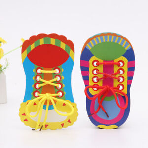 1 x Learn To Lace Tie Shoes Practice Lacing Learning Shoe Children's Shoelace