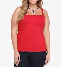 New Retro Burlesque Pinup Torrid Cherry Red Structured Style Tank Cami Blouse 3x