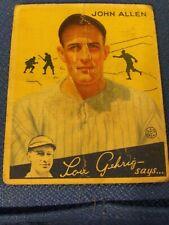 1934 Goudey #42 John Allen New York Yankees