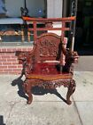 Antique Carved Dragon Throne Chair