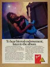 1989 Greg Howe photo Fender HM Strat Guitar vintage print Ad