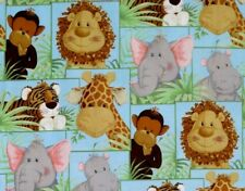 JUNGLE BABIES PATCH  FABRIC TRADITION  NURSERY- BABY QUILTING   FREE US SHIPPING