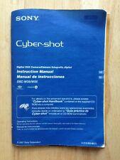 2007 SONY CYBER-SHOT DIGITAL STILL CAMERA INSTRUCTION MANUAL, DSC-W35 / W55