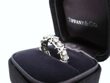 TIFFANY & CO. JEAN SCHLUMBERGER 16 STONE DIAMOND RING PLATINUM SIZE 7
