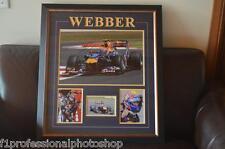 """Mark Webber original signed 18"""" x 12"""" (45cm x 30cm) frame with photo proof & COA"""