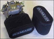 2x RAMAIR, de Carbono doble trumpet calcetines Weber DCOE Dellorto DHLA 115mm