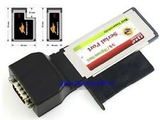 34mm/54mm ExpressCard to 1x RS232 Serial Com DB9 male Adapter Physical Port