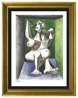 """Pablo Picasso Signed/Hand-Numbered Ltd Ed """"Woman Dressing Hair"""" Print (unframed)"""