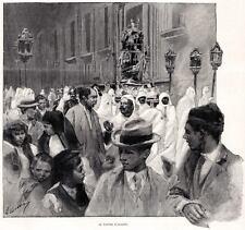 MESSINA: PROCESSIONE DELLA VARA. Sicilia.Trinacria.PASSEPARTOUT.CERTIFICATO.1895