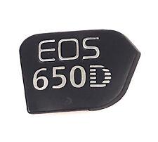 Cámara digital logotipo de cuerpo de goma para la reparación d Canon EOS 650D unidad de reemplazo parte