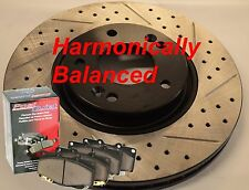 Fits Veloster Turbo Harmonically Balanced Drill Slot Rotors Ceramic Pads Front