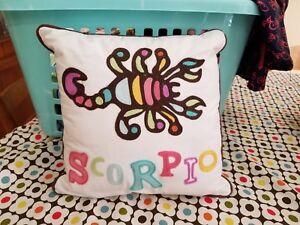 "Pottery Barn Teen ""Zodiac - Scorpio"" 12"" Throw Pillow"