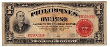 1941(ONE PESO (SILVER CERTIFICATE) red seal (PHILIPPINES- US)-wartime-