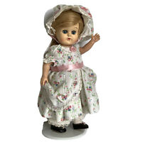 """Vintage Walker Doll Blonde Hair 9"""" Hard Plastic Custom Mary Had A Lamb Outfit"""