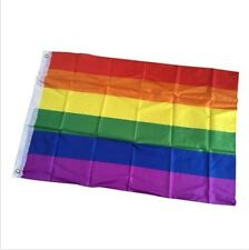 3x5 FT Polyester Rainbow Gay Pride Lesbian Peace LGBT Flag with 2 Grommets