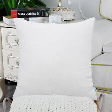 2Pcs True White Cushion Covers Pillow Shells Cases Solid Dyed Soft Chenille 40cm