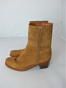 Penelope Chilvers tan suede ankle boots size UK5/US7