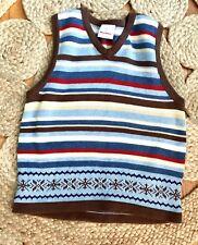 Hanna  Andersson  110 Boys Striped Vest Size 5 6