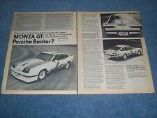 """1975 Monza GT Vintage Prototype Article """"Porsche Beater"""" 2+2 IMSA"""