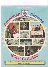 AMERICAN AIRLINES 1976 GOLF CLASSIC WITH NUMEROUS AUTO'S-DIMAGGIO, MAYS,NAMATH