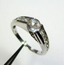 1858 - Moderner Ring mit Rosenquarz und weißem Topas aus 925 Silber - G6