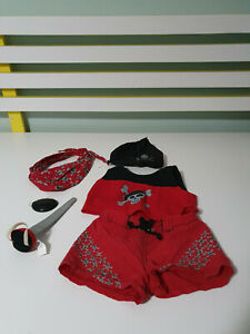 BUILD A BEAR PIRATE OUTFIT  HAT SHIRT PANTS AND BOOTS!