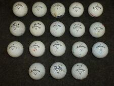 Lot of (18) Used Golf Balls / Callaway Warbird