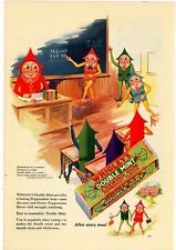 1928 Wrigley's Double Mint Gum Ad: Mother Goose Theme - Great Coloration!