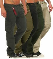 Alpha Industries Herren Cargo Hose Jet Pant 101212 Loose Fit Worker Stoff Pants