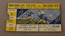 1950 MICHIGAN STATE vs MICHIGAN Original College Football Ticket-Ann Arbor, MI