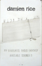 Damien Rice 2014 Favourite Faded Fantasy promotional poster New Old Stock Mint