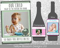 Personalised Wine Champagne Label School Teacher Christmas Gift Idea Photo Xmas