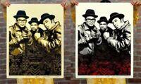 Obey Giant Shepard Fairey RUN-DMC Raising Hell Bundle Signed Set Poster