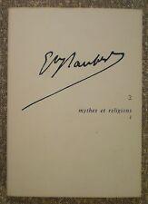 REVUE DES LETTRES MODERNES N° 2/MYTHES & RELIGIONS 1/DE BIASI, GOTHOT-MERSCH...